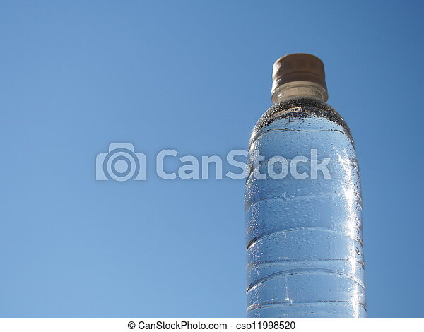 mineral water were placed in a plastic bottle - csp11998520