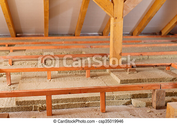 Mineral wool panels used for thermal insulation - csp35019946