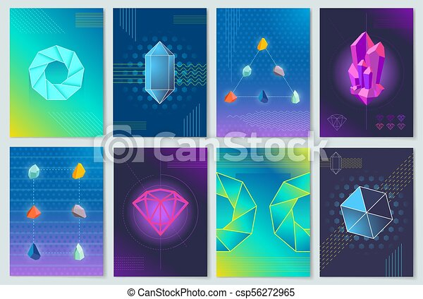 Minerals and Stones Collection Vector Illustration - csp56272965