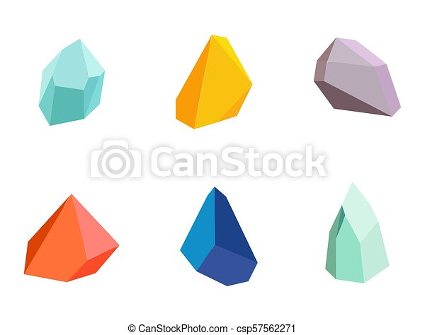 Minerals Collection Poster Vector Illustration - csp57562271