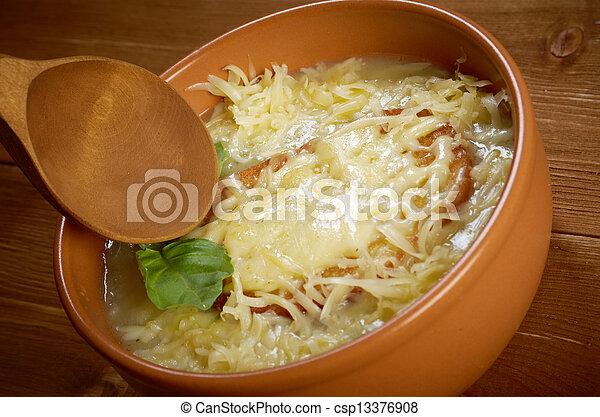minestra cipolla, francese - csp13376908