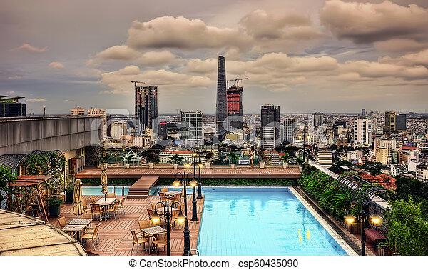 Ho chi minh aerial de la ciudad - csp60435090