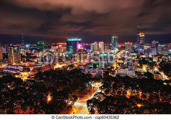Ho chi minh aerial de la ciudad - csp60435362