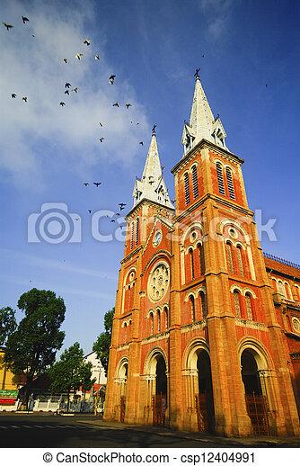 Catedral en ho chi minh City, Vietnam - csp12404991