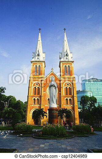 Catedral en ho chi minh City, Vietnam - csp12404989