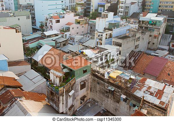 Parte del no comercial Skyline de Ho Chi minh City (Saigon) - csp11345300