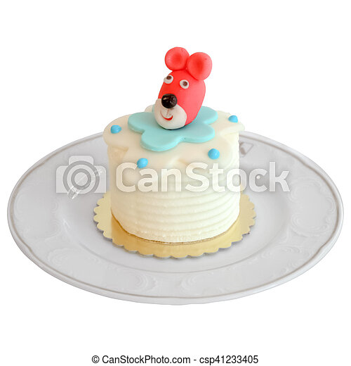 Mini Birthday Celebration Cake Decorated With Animal Figures For Kids Party