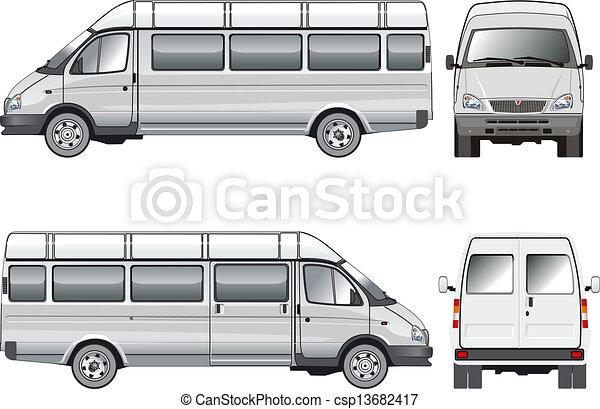 mini-bus, passageiro, stratch - csp13682417