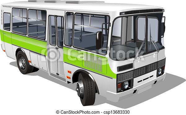 mini-bus, passageiro, suburbano - csp13683330