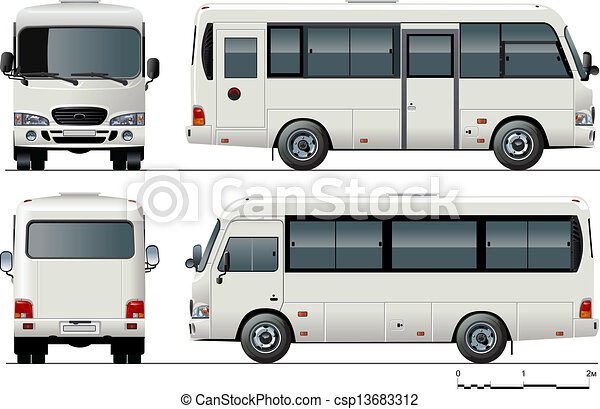 mini-bus, urbano, passageiro - csp13683312