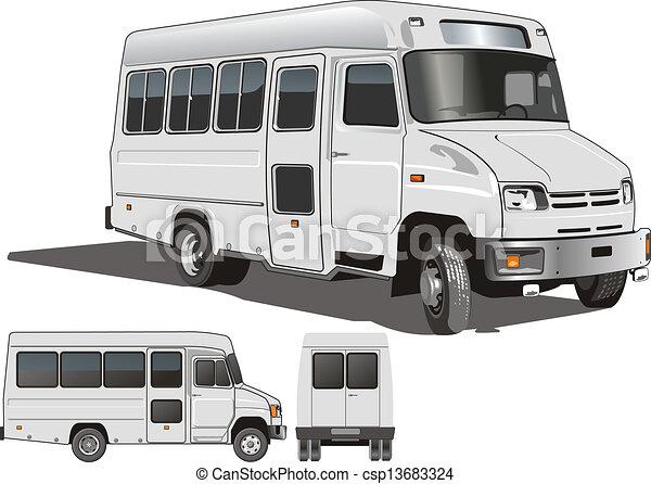 mini-bus, urbano, passageiro - csp13683324