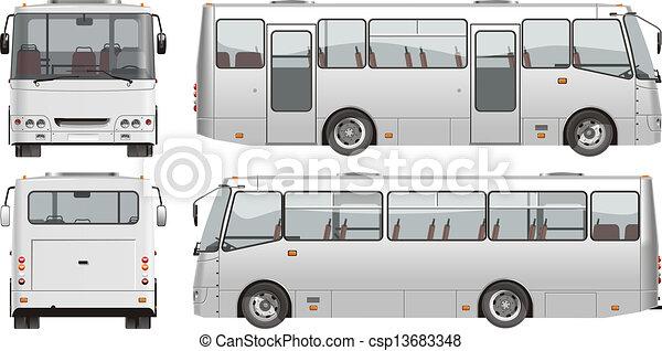 mini-bus, urbano, passageiro - csp13683348