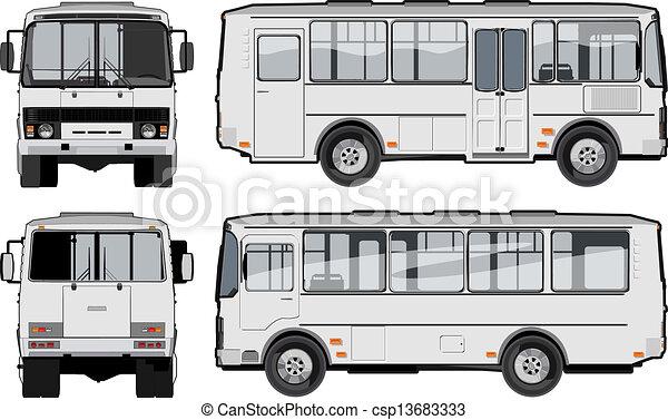 mini-bus, urbano, suburbano, /, passeggero - csp13683333