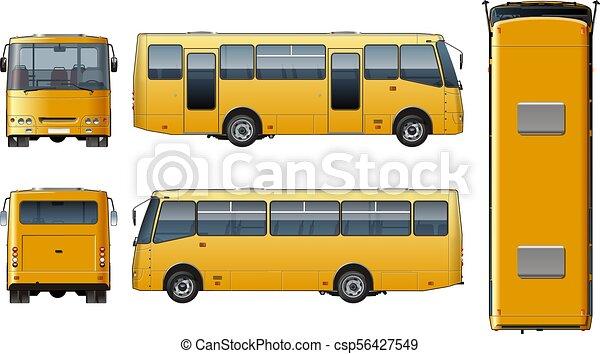 mini-bus, urbano, vetorial, giga, passageiro - csp56427549