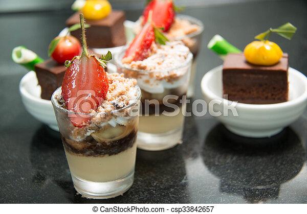 Mini cake on the table  - csp33842657