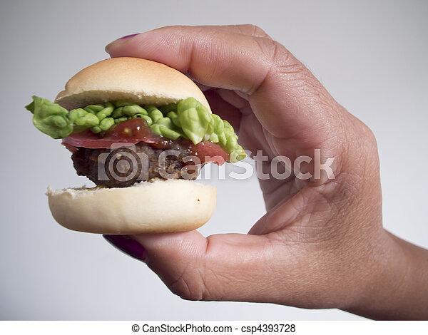 mini cheese deluxe burger - csp4393728