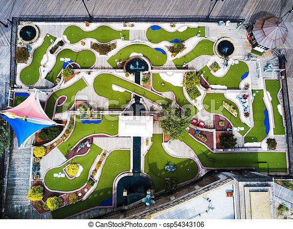 Mini campo de golf vista aérea - csp54343106