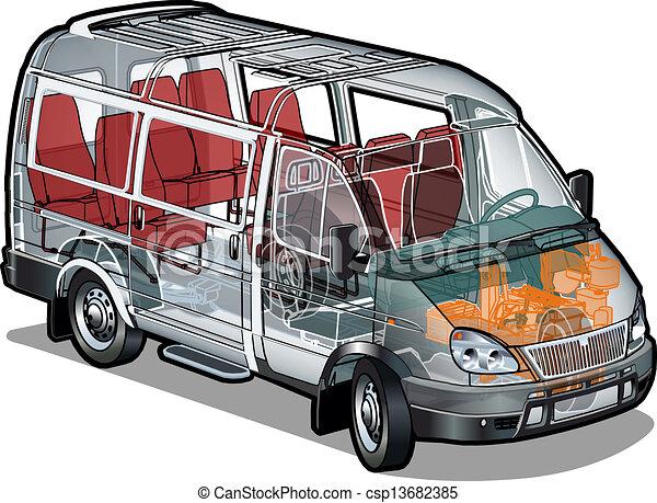 mini, ifographics, autocarro, cortante - csp13682385