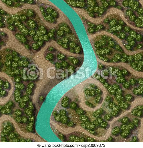 Mini landscape generated hires background - csp23089873