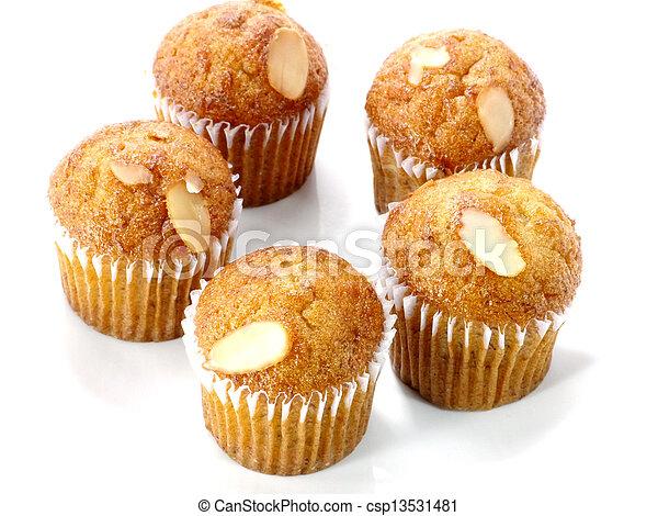 Mini Muffin cake on white background. - csp13531481