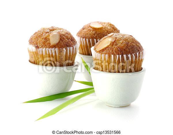 Mini Muffin cake on white background. - csp13531566
