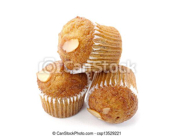 Mini Muffin cake on white background. - csp13529221