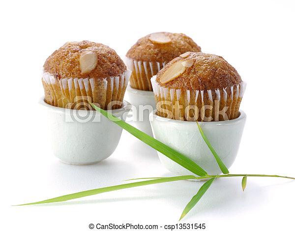 Mini Muffin cake on white background. - csp13531545