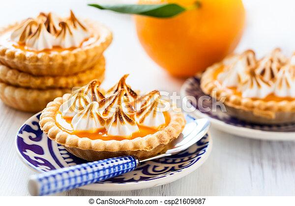 Mini orange curd tartlets - csp21609087