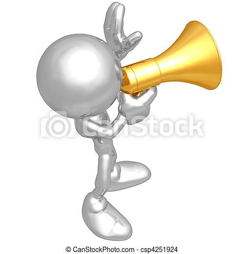 El megáfono original - csp4251924