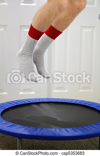 Mini Trampoline Jumping - csp5353683