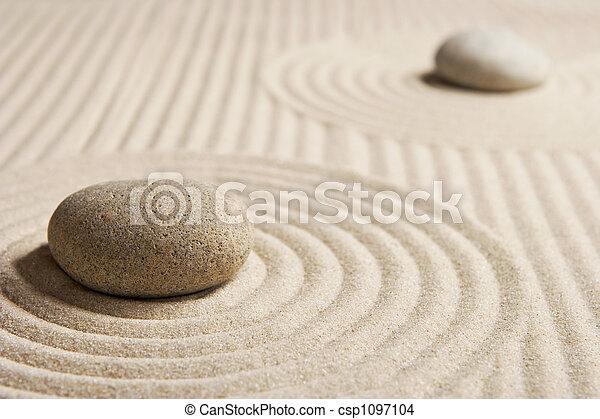 Mini zen garden stones on raked san mini rock garden zen stock mini zen garden csp1097104 workwithnaturefo