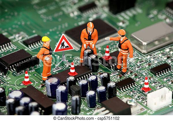 miniatura, elettronica, tecnici, quotazione - csp5751102