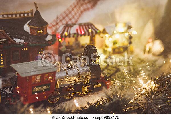 Miniature Christmas train - csp89092478