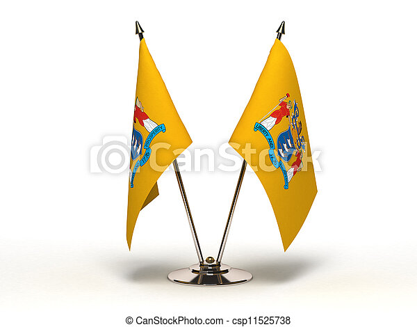 Miniature Flag of New Jersey (Isolated) - csp11525738