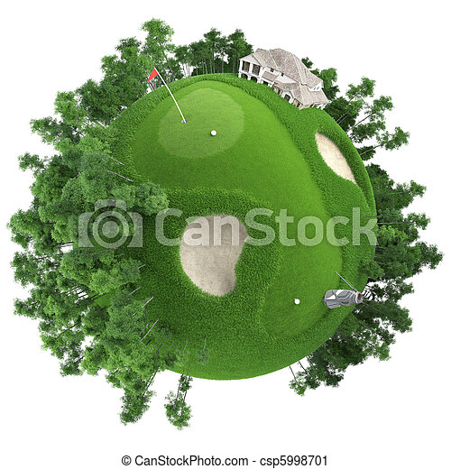miniature golf planet - csp5998701