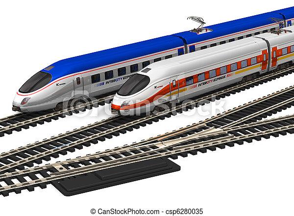 Miniature high speed trains - csp6280035