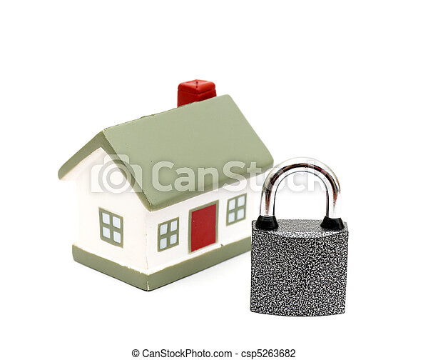 miniature house with lock - csp5263682