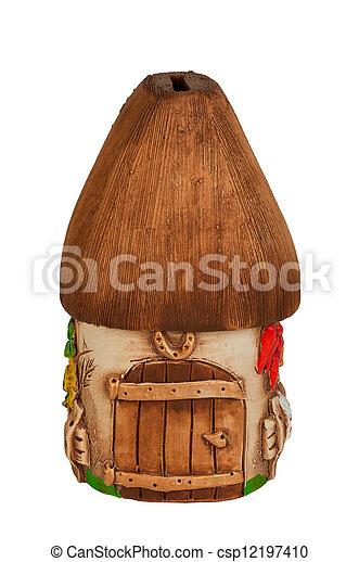 Miniature model country home (piggy bank) - csp12197410