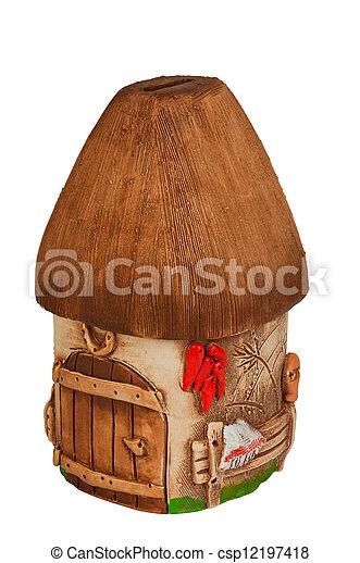 Miniature model country home (piggy bank) - csp12197418