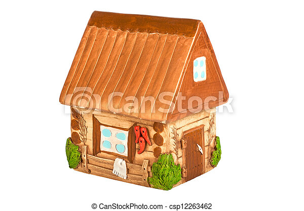 Miniature model country home (piggy bank) - csp12263462