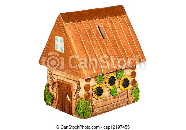 Miniature model country home (piggy bank) - csp12197455