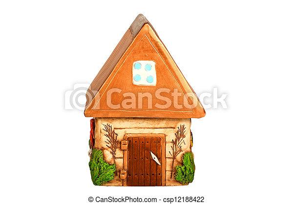Miniature model country home (piggy bank) - csp12188422