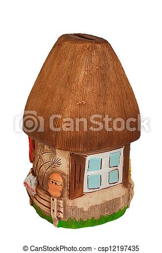 Miniature model country home (piggy bank) - csp12197435