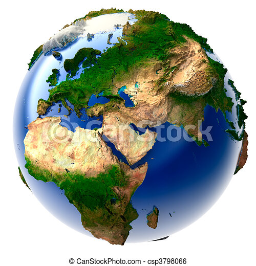Miniature real earth 3d model of the globe with an exaggerated miniature real earth csp3798066 gumiabroncs Gallery