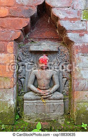 Miniature statue of Shiva - csp18830635