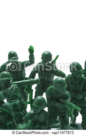 miniature toy soldiers - csp11977813
