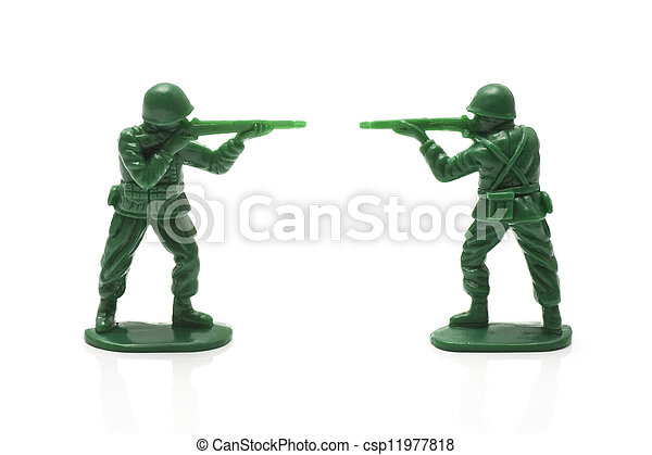 miniature toy soldiers - csp11977818