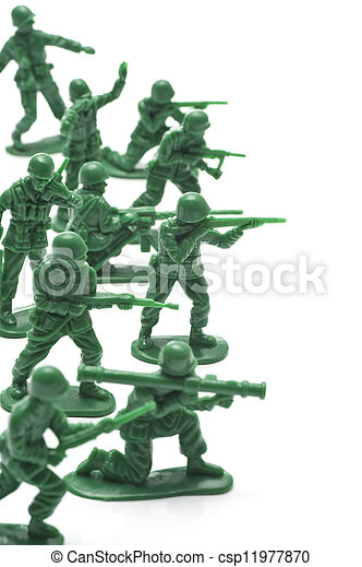 miniature toy soldiers - csp11977870