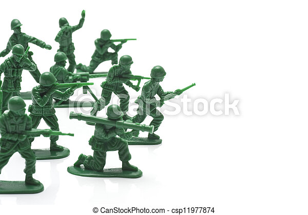 miniature toy soldiers - csp11977874