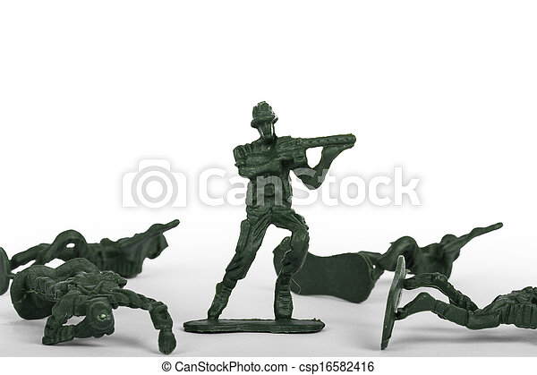 Miniature Toy Soldiers - csp16582416